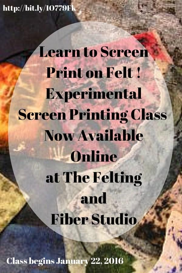 Online Screen Printing on Felt Class