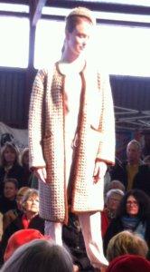 spun and woven wool coat
