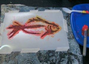 Stenciling fish