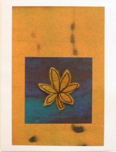Felt Free Motion Stitched Digitate Leaf Card
