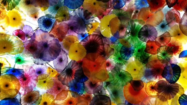 Chihuly glass installation at the Bellagio in Las Vegas 2