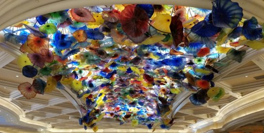 Chihuly glass installation at the Bellagio in Las Vegas