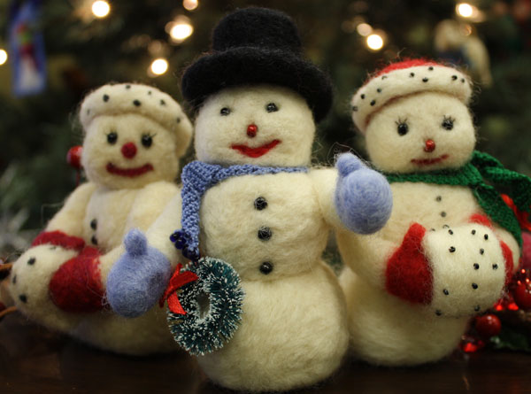 Needle Felting Snowman Free Felting Tutorial