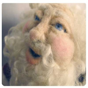 Needle Felting a Santa Doll Kit