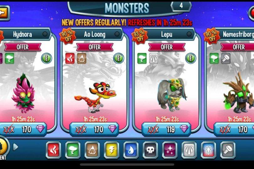 Monster Legends Mod Apk V9 5 Unlimited Coins Gems Download