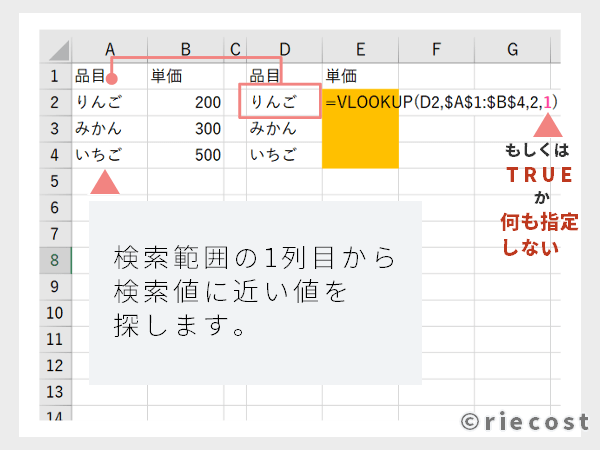 [riecost]ExcelのVLOOKUP関数の使い方┃エクセル初心者のための基本スキル