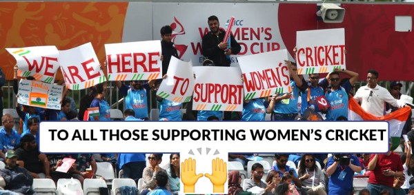 we are here to support women's cricket