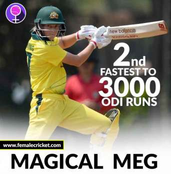 Meg Lanning is the 2nd fastest woman to bring up 3,000 ODI runs