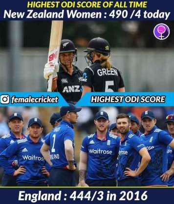 New Zealand women shatter record for highest ODI score of 490/5 against Ireland Women