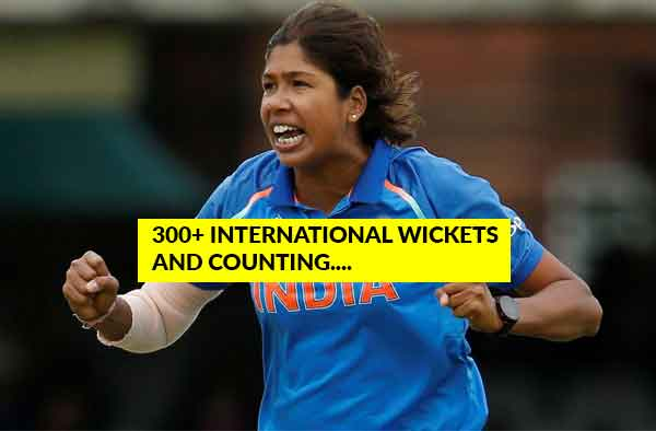Jhulan Goswami proving the proverb : Sky is not the limit