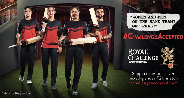 Women and Men on the same team? GET REAL! Royal Challenge Sports Drink Launches #ChallengeAccepted