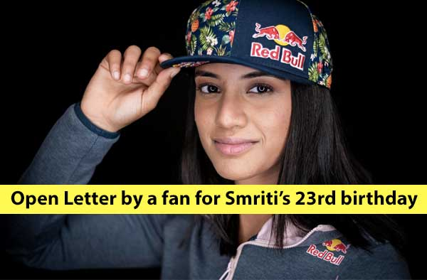 An open letter to Smriti Mandhana on her 23rd Birthday