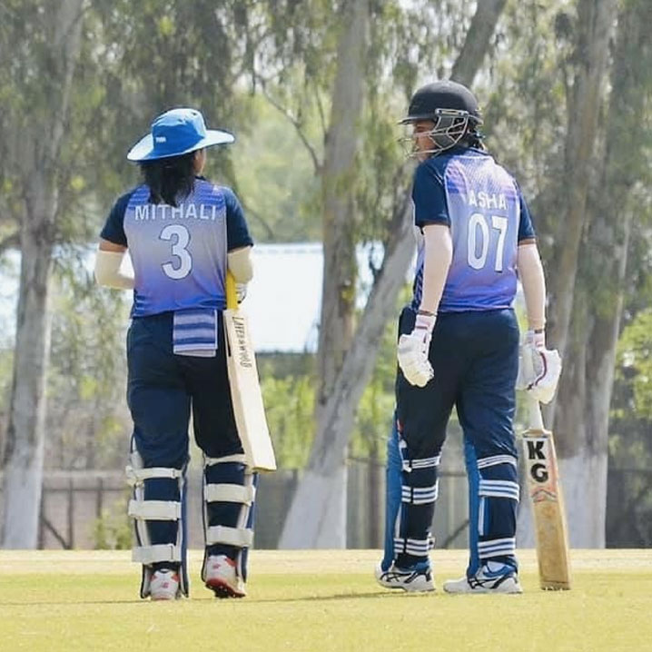 Mithali Raj and Asha Joy