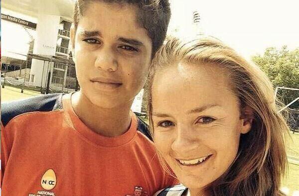Danielle Wyatt with Arjun Tendulkar