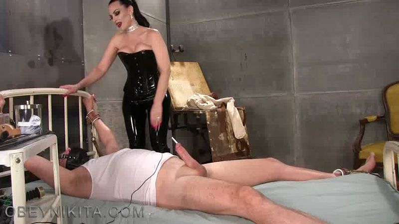 Mistress Nikita Femdom Videos Obey Nikita More Electric Cock Therapy