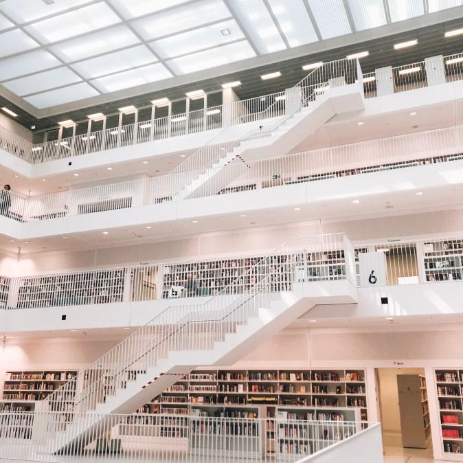 Prettiest Library in Stuttgart