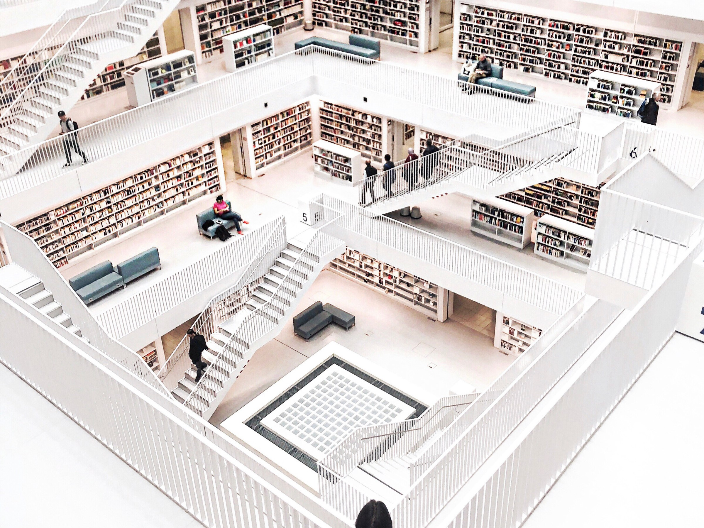 Visiting the prettiest library in Stuttgart