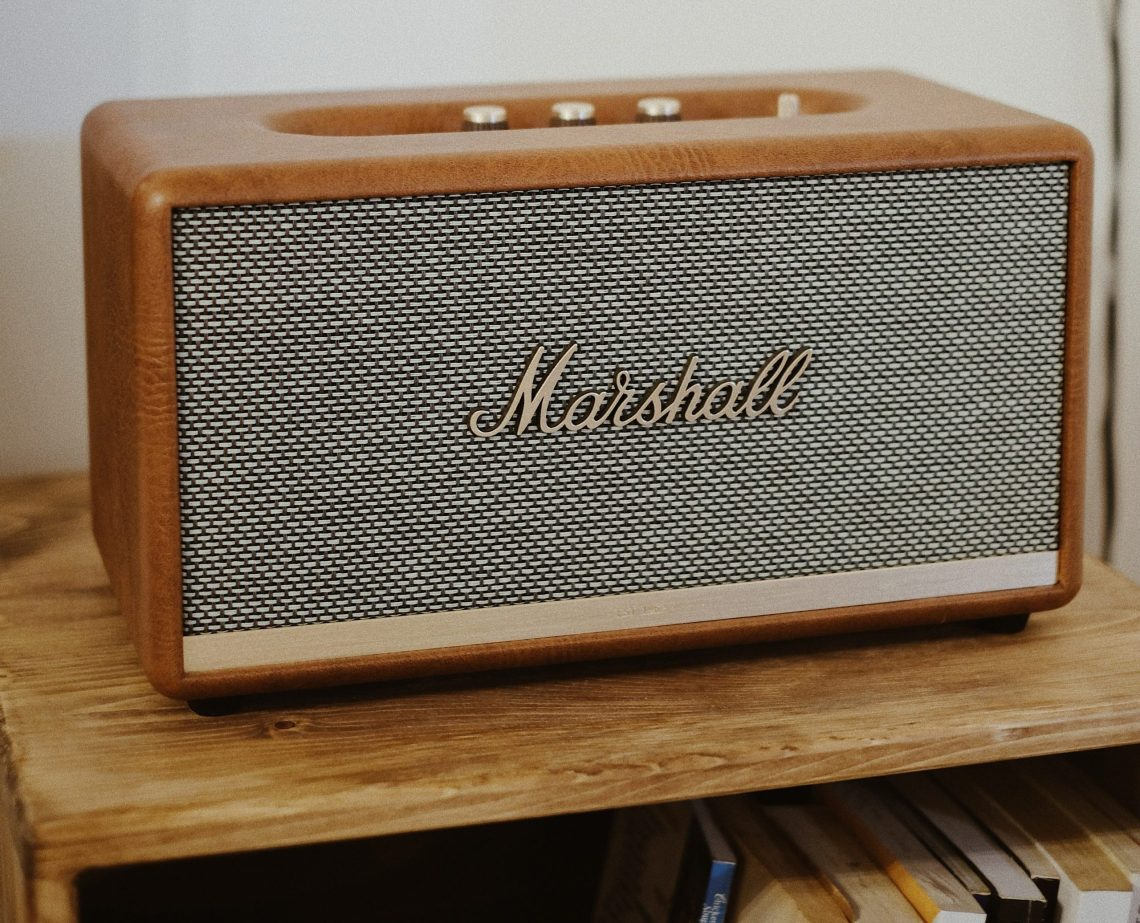 Find new music on the radio. Marshall radio.