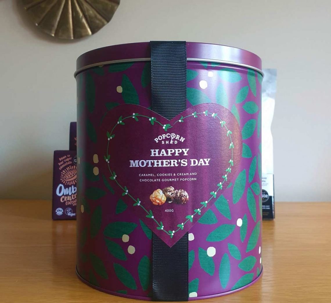 Popcorn Shed Happy Mother's Day gift tin. The Best Foodie Mother's Day Gifts To Give This Mother's Day - Female Original
