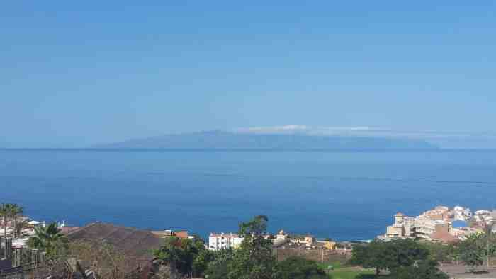View of La Gomera Island best views in Tenerife Spain