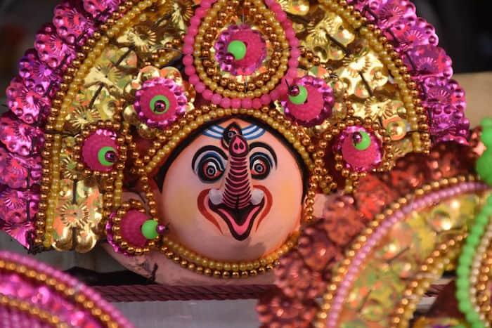 Mask making at Purulia