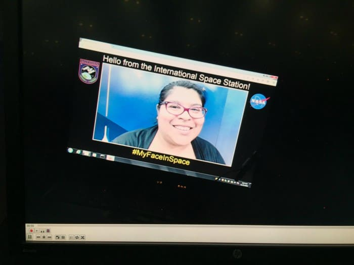 NASA beamed my photograph into space where it flew around the International Space Station on a laptop!