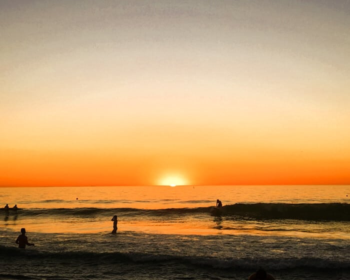 top things to do in Perth include watching the sun set at Cottesloe Beach