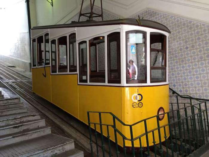 The iconic Bica Funicular in Lisbon