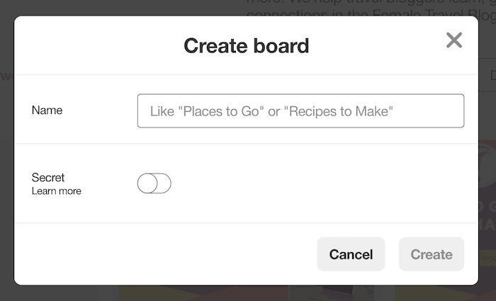 Create board - How to Create Pinterest Boards