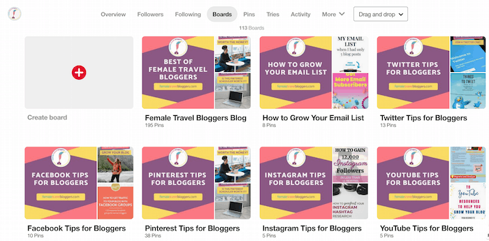 Pinterest Boards- How to create a Pinterest board