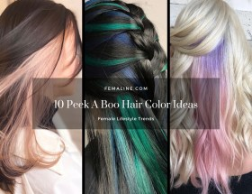 10 Peek A Boo Hair Color Ideas