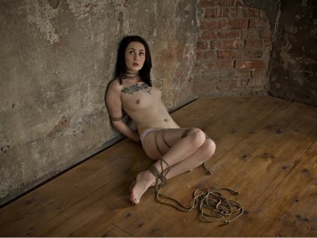 girl in ropes