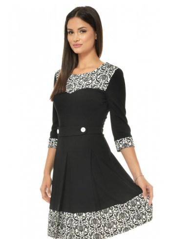 rochie-office-alb-negru-cu-imprimeu-tip-catifea-r136i146-fata1-992x1404
