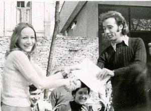 Ultima zi de facultate, 1974. Predau cindica, după ce am ținut-o ascunsă 6 luni!