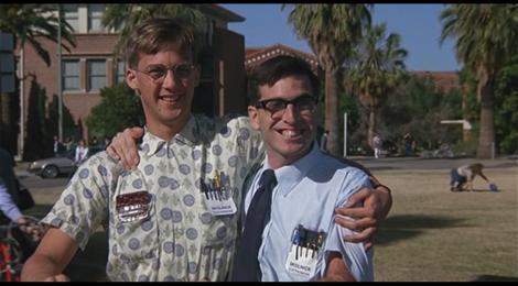 """Anthony Edwards und Lewis Skolnick in """"Revenge of the Nerds"""""""