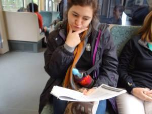 Ximena on the Train