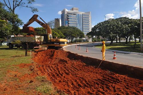 GDF inicia as obras de desvios de trânsito em Taguatinga Intervenções são necessárias para garantir a fluidez do tráfego durante a construção do túnel na área central da cidade