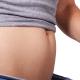 Frau nach Gewichtszunahme durch Östrogendominanz