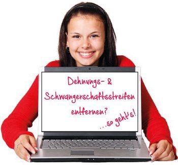 Effektive Behandlung von Dehnungsstreifen entfernen und Schwangerschaftsstreifen behandeln.