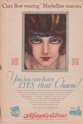 Clara-Bow-wears-Maybelline-mascara