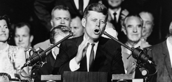 John F. Kennedy, 1960 Democratic Convention Credit: smithsonianmag.com