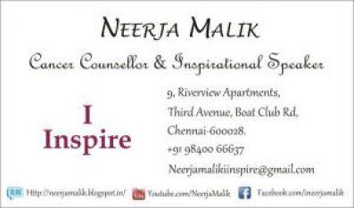Neerja Malik's Business Card