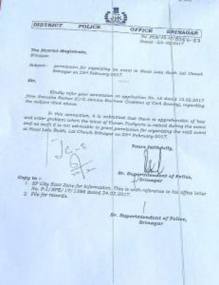Ban order by SSP for Kunan Poshpora meeting