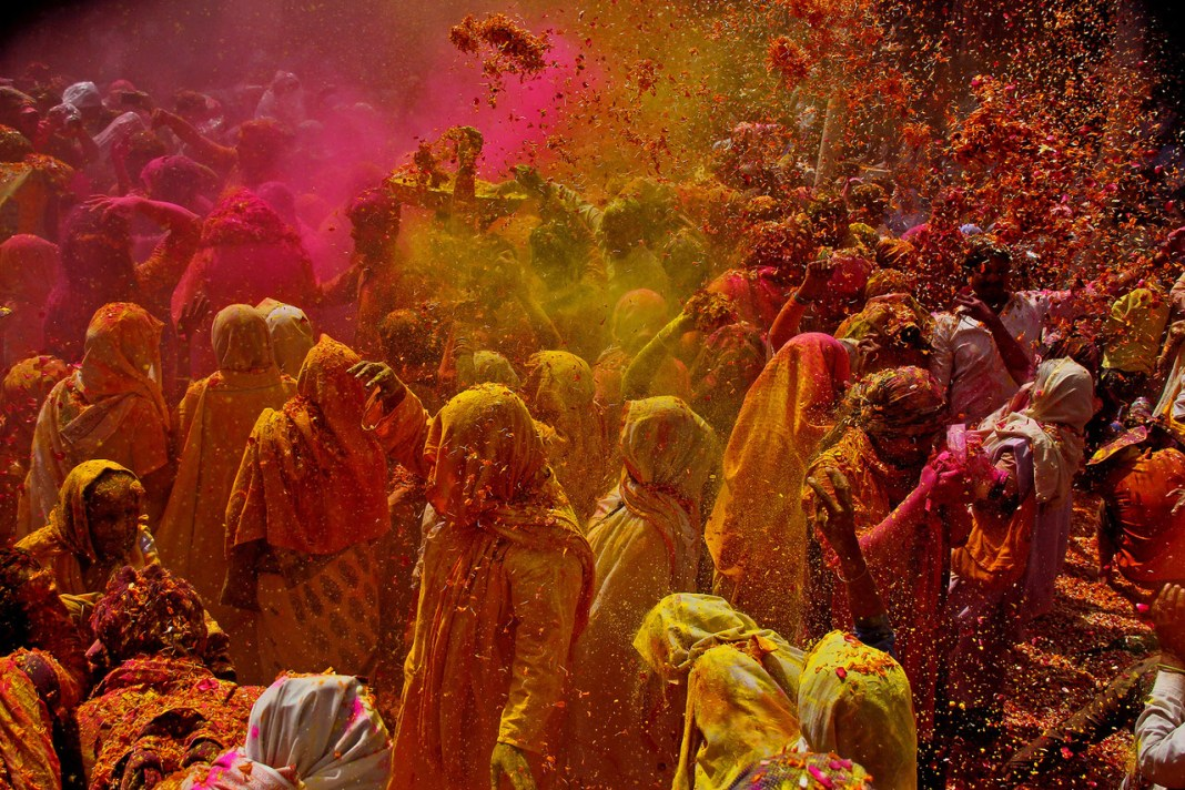 Widows of Vrindavan play Holi
