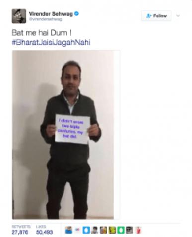 Sehwag trolling Gurmehar Kaur