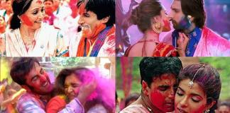 Stills from Holi songs