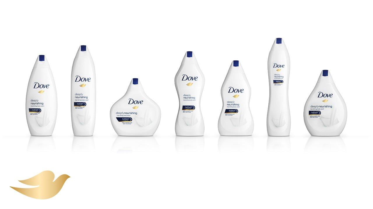 Dove's body positive bottles