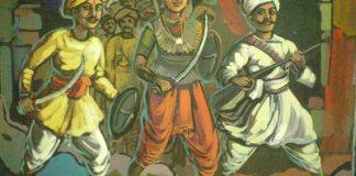 Kittur Rani Chennamma leading the battle