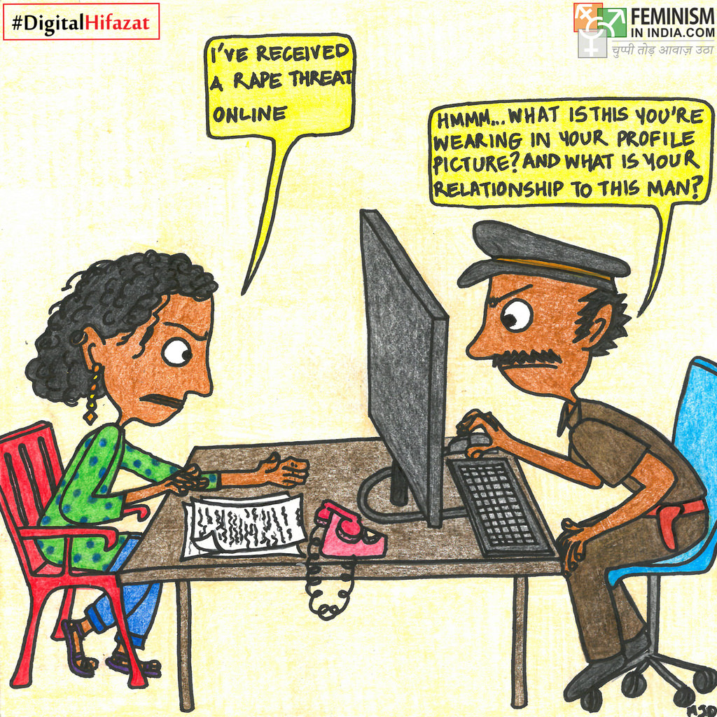 Comic: When Women Report Online Violence | #DigitalHifazat