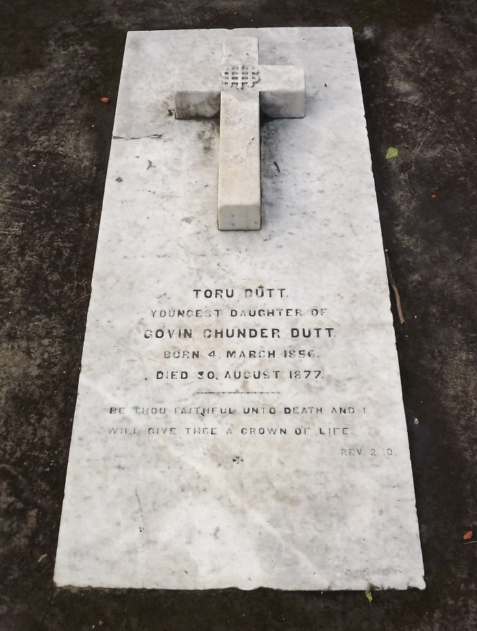 Grave of Toru Dutt at Manicktala Christian Cemetery